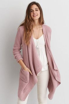 American Eagle Outfitters AEO Draped Cardigan