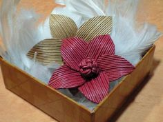 紙バンドで花!2の作り方 エコクラフト 紙小物・ラッピング   アトリエ kamiband tutorial
