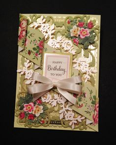 Floral Birthday Card, Anna Griffin Products - Scrapbook.com
