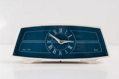 Vintage Table Clock. 1970s.  Soviet Mechanical by VintageBeautyArchive