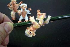 Garie's Clay Creations: Combining Polymer Clay With Pipe Cleaner To Create Miniature Furries