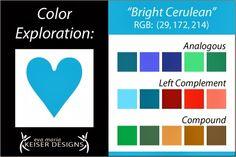 Eva Maria Keiser Designs: Explore Color:  Bright Cerulean