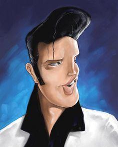 Elvis Karikatur