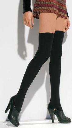 Trasparenze Caballero κάλτσες οπάκ πάνω από το γόνατο μαύρο 70 den | Tartora.gr