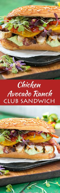 This updated club sandwich includes lemon herb grilled chicken, homemade avocado ranch spread, plenty of bacon and lots of summer tomatoes.