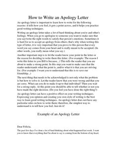 Sample Apology Letter To Send Teachers Help Express The Right Emotion