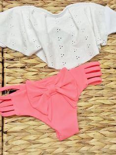 Eyelet Ruffle Bandeau Brazilian Swimwear by AZTECASWIMWEAR on Etsy, $34.00 If you like this picture - follow my pinterest @MuteFashion or visit my official blog: http://mutefashion.com/