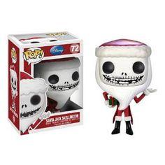 Amazon.com: Funko POP Nightmare Before Christmas Santa Jack Skellington Vinyl Figure: Toys & Games