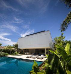 Modern Tropical Minimalist House by Studio MK27 - InteriorZine