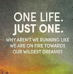 nice Inspirational Quotes About Dreams 'One Life Just One' Towards Dreams