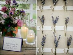 lavender sprigs for guests to sign -- small boutonnieres that serve as name tags?