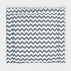 KraftKids Wickelauflage Chevron grau breit 75 x tief 70 cm