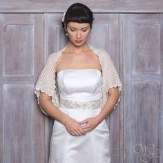 OVERSIZE BRIDAL SHRUG Hochzeit Bolero Baby Alpaka von WhiteFashion