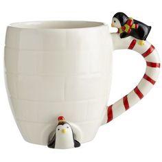 Penguin Igloo Mug with a surprise inside soo cute