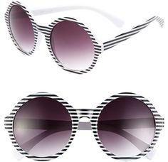4bb19d0c62 Fantas-Eyes Fantas Eyes FE NY  Episode  Round Sunglasses Black White  Stripes