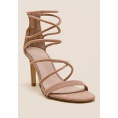 Chinese Laundry Sheena Strappy Heel - Nude ($80) ❤ liked on Polyvore featuring shoes, pumps, nude, nude pumps, nude court shoes, strappy heel shoes, chinese laundry and nude shoes