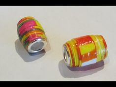 How To Make Paper Beads With Bead Cores Craft Tutorial - YouTube