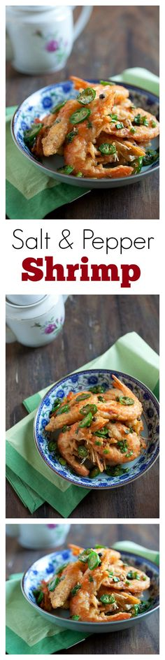 Salt & Pepper Shrimp  - Chinese restaurant-style salt & pepper shrimp recipe. SO easy, yummy & budget friendly!! | rasamalaysia.com