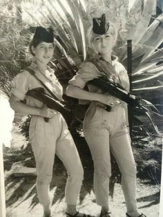 Israel female soldiers in the 'Six Day War' of 1967.