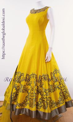 Shop premium range of Anarkali gown online USA,Indian clothes online, Indian dress near me , gown dress , wedding suits long dress and Indian Gowns Dresses, Indian Fashion Dresses, Indian Designer Outfits, Indian Outfits, Brocade Dresses, Long Dresses, Fashion Clothes, Fashion Outfits, Designer Anarkali Dresses