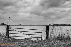 Het hoge water in de #IJssel tussen #Kampen en #Zwolle bij #Zalk