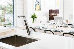ALESSI Sense by Oras white kitchen faucet, Nordic interior design White Kitchen Faucet, Nordic Interior Design, Alessi, Oras, Design Awards, Cool Designs, Behance, Kitchen Designs, Dubai
