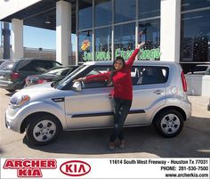 Congratulations to Tiffany Johnson on the 2013 Kia Soul