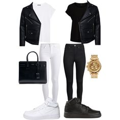 MATCH by kwasheretro on Polyvore featuring polyvore, fashion, style, Balmain, VILA, Pieces, H&M, NIKE, Yves Saint Laurent and Nixon