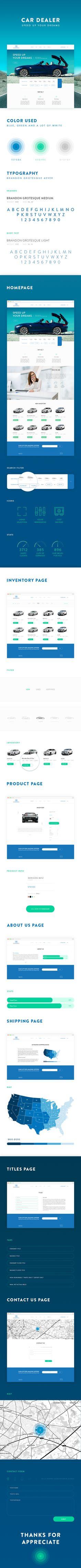 Car dealer website design. on Web Design Served