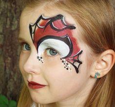 maquillage enfant facile halloween-spiderman-visage