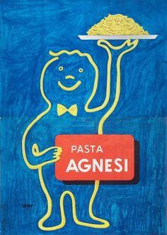 By R. Savignac, 1965, Pasta Agnesi.
