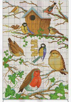 Broderede vinterfugle, til Ditte & Kim??