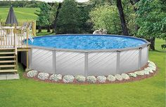 Pool deck designs for a 24 round above ground plans for Above ground pool decks tampa