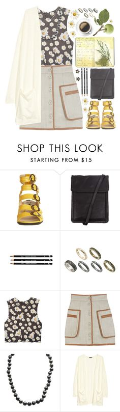 """Daisy Chains"" by kearalachelle ❤ liked on Polyvore featuring Fly LONDON, Ann Demeulemeester, Moleskine, ASOS, dELiA*s, By Malene Birger, Imperial, H&M and Marc by Marc Jacobs"