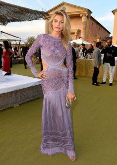 kelly rohrbach purple dress leonardo dicaprio foundation gala 2015