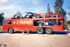 Ferrari transport carrying Shelbys