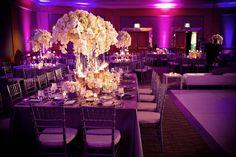 wedding reception design | Modern-wedding-reception-design-with-purple-lighting-white-orchid ...