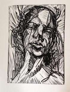 Lino print by Laura Woermke