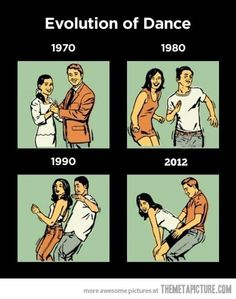 Evolution of dance.