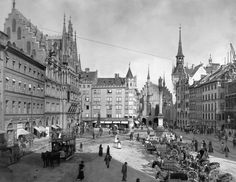 Marienplatz, München, 1900
