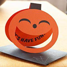 Cute shaped pumpkin card on Better Homes & Gardens website