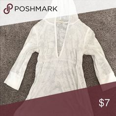 White Hooded top See through white hooded top Tops Tunics