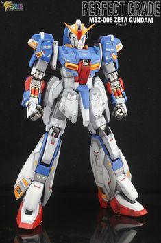 PG Zeta Gundam - Customized Build Modeled by Jon-K Zeta Gundam, To Go, Guys, Model, Ships, Highlight, Boats, Scale Model