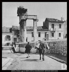 Αθήνα 1950-60, γαλατάς στην Πλάκα