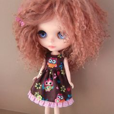Owl Dress for Blythe by myfairdolly on Etsy, $13.00
