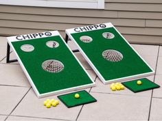 Golf Gifts Chippo Golf: Outdoor Golf Game - A hole in one for golfers. Cornhole and golf are combined in a fun new backyard game that delivers off-the-course fun. Backyard Beach, Backyard Games, Backyard Ideas, Backyard Carnival, Backyard Playset, Garden Games, Backyard Patio, Jenga, Golf Mk4