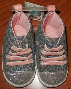 Carter's Baby Girl Prewalk Crib Shoes high top sneakers 3-6 months  #Carters #CribShoes