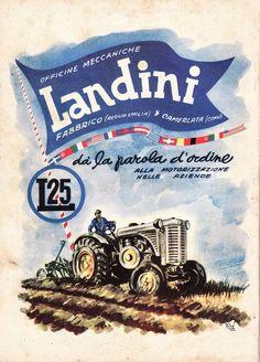 PUBBL. 1951 TRATTORE TRATTRICE LANDINI L25 ARATURA OFFICINE FABBRICO CAMERLATA