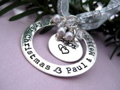 Our First Christmas - Personalized Sterling Silver Ornament
