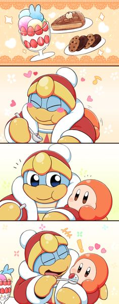 Its funny because King Dedede isn't nice at all.